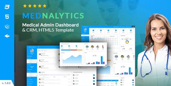 Mednalytics   Medical Admin Dashboard HTML5 Template - Admin Templates Site Templates