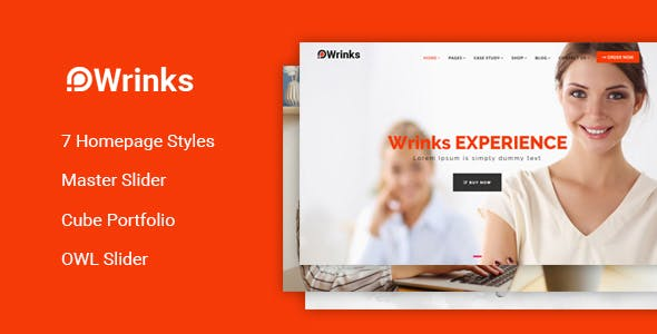 Wrinks - Multipages Business HTML5 Template