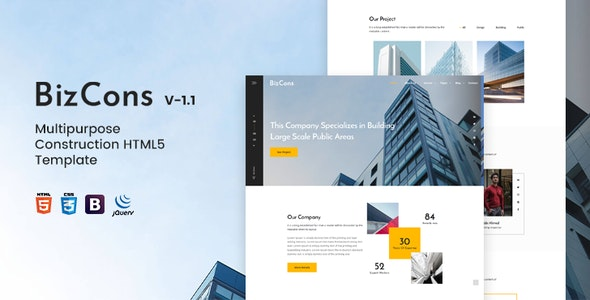 BizCons | Multipurpose Construction HTML5 Template - Business Corporate