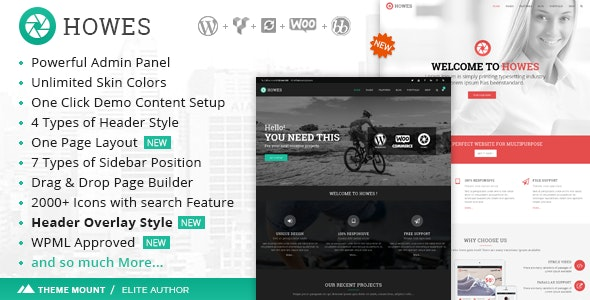 Howes | Responsive Multi-Purpose WordPress Theme - Business Corporate