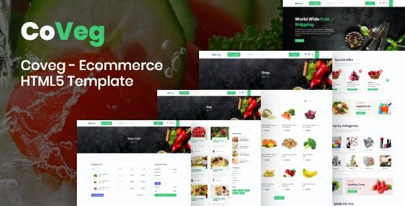Coveg - Vegetable and Multipurpose Ecommerce Responsive HTML5 Template. - Food Retail