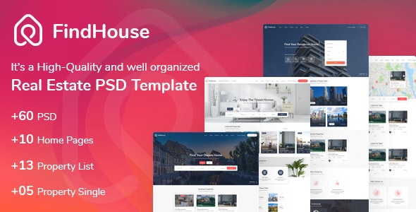 FindHouse - Real Estate PSD Template - Business Corporate