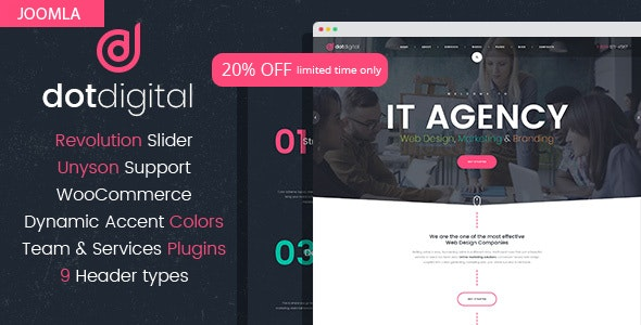 DotCreative – Web Design Agency Joomla Template - Corporate Joomla