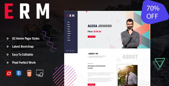 ERM-Personal Portfolio Template - Portfolio Creative
