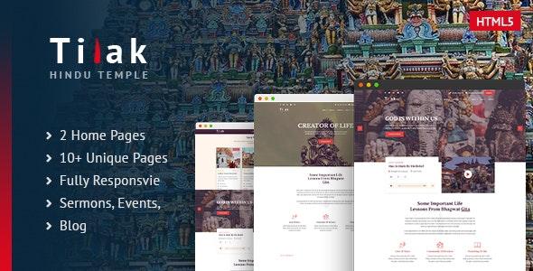 Tilak | Hindu Temple HTML5 Template - Churches Nonprofit