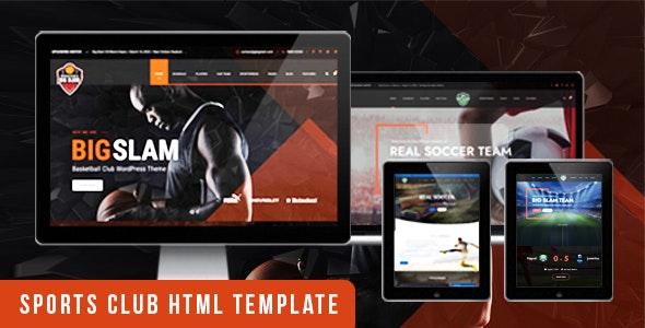 BigSlam Sport Clubs- HTML Template - Retail Site Templates