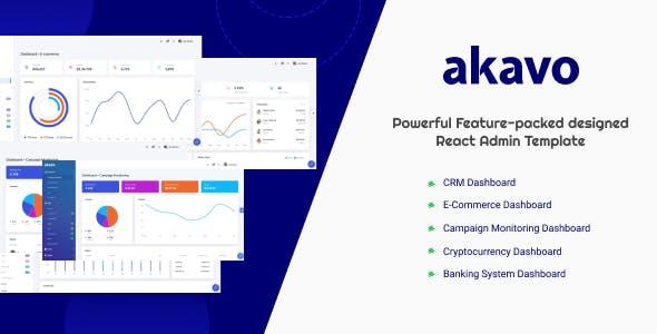 Akavo - React + HTML + Dark Admin Template