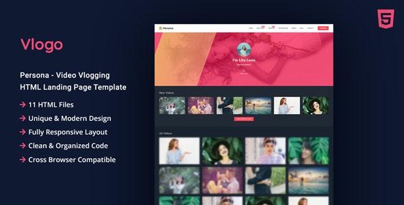 Vlogo - Vlogging HTML Landing Page Template - Entertainment Site Templates