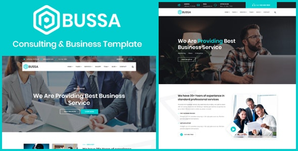 Bussa - Consulting & Business Template - Business Corporate