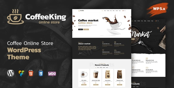 CoffeeKing - Coffee Shop & Drinks Online Store WordPress Theme - Food Retail