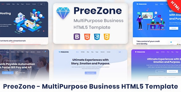 PreeZone - Multipurpose Creative HTML5 Template for Agency & Startup - Business Corporate
