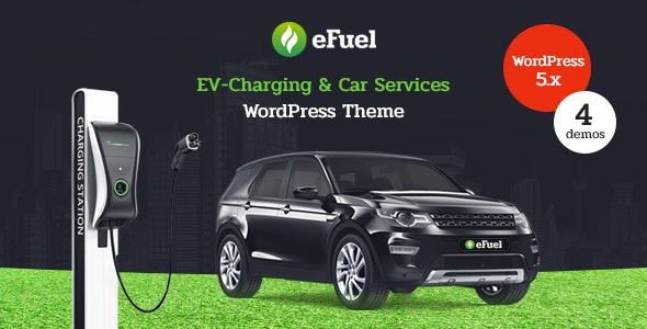 Efuel - Electric Car Rental & EV Charging WordPress Theme - Business Corporate