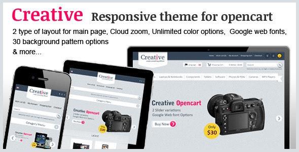 Creative Opencart Theme - OpenCart eCommerce