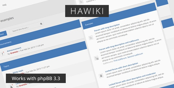 Hawiki - Forum Theme - PhpBB Forums