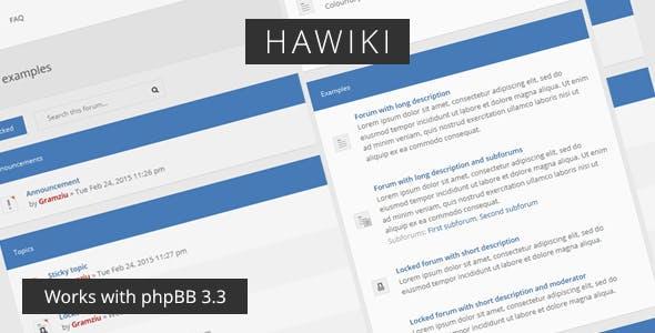 Download Hawiki - Forum Theme