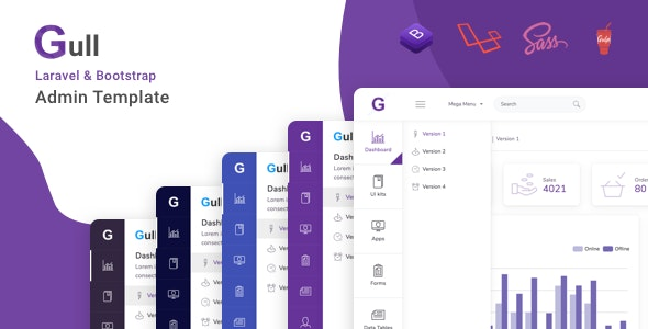 Gull - Laravel + Bootstrap Admin Dashboard Template - Admin Templates Site Templates