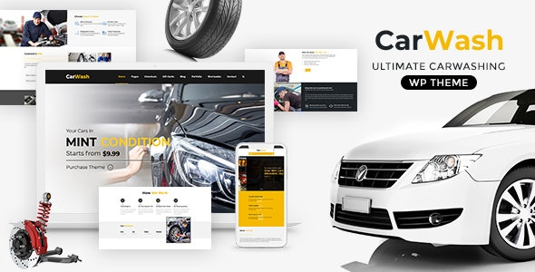 Car Wash - Auto Spa WordPress Theme - Business Corporate