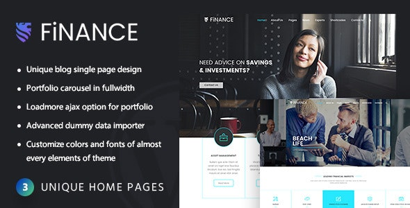 Finance Consultant - Consulting WordPress Theme - Business Corporate