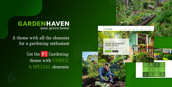 Garden - Landscape Gardening WordPress Theme - Environmental Nonprofit