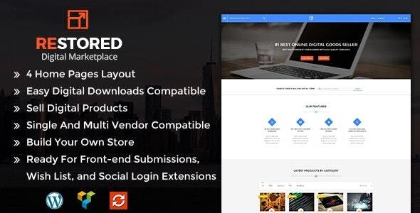 Restored MarketPlace - WordPress Theme - eCommerce WordPress