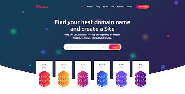 Klaud - Web Domain & Hosting PSD Template