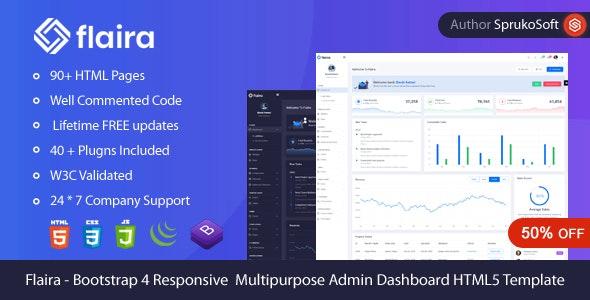 Flaira –  Bootstrap HTML Admin Template - Admin Templates Site Templates