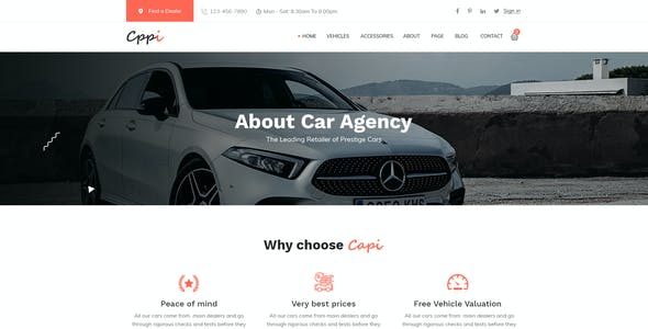 Carrpi - Car Dealer & Car Booking  PSD Template