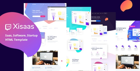 Xisaas - Saas Landing page HTML Template - Technology Site Templates