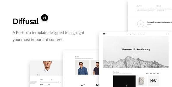 Diffusal - Creative Portfolio Template - Portfolio Creative