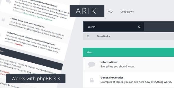 Ariki - phpBB3 Flat Theme - PhpBB Forums