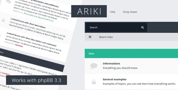 Download Ariki - phpBB3 Flat Theme