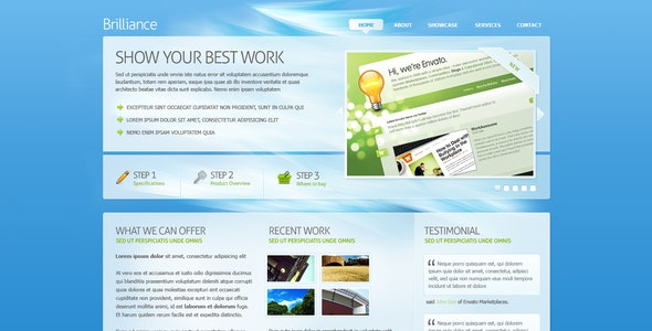 Brilliance PSD Template - Corporate Photoshop