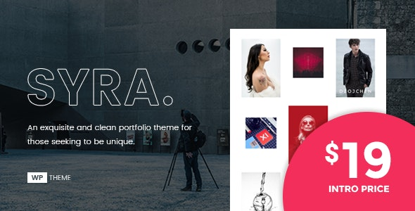 Syra – A Minimal Showcase Portfolio WordPress Theme - Portfolio Creative