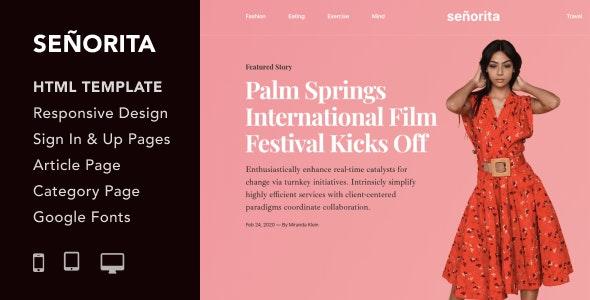 Senorita - Magazine and Blog HTML5 Responsive Template - Fashion Retail
