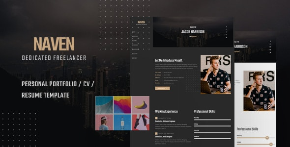 Naven - Resume / CV / vCard Portfolio Template - Resume / CV Specialty Pages