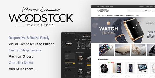 Woodstock Electronics Responsive WooCommerce Theme