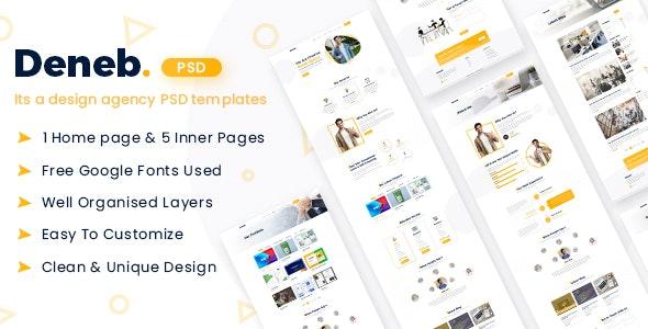 Deneb - A Digital Agency Psd Template - Corporate PSD Templates