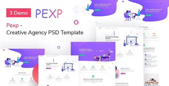 Pexp - Creative Agency PSD Template - Creative Photoshop
