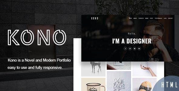 Kono - Personal Portfolio and Resume Template - Personal Site Templates