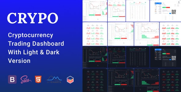 Crypo - Cryptocurrency Trading Dashboard HTML Template - Technology Site Templates