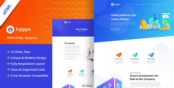 Hyippo - Isometric HYIP Investment Business HTML Template - Business Corporate