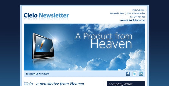 Cielo Newsletter - Newsletters Email Templates