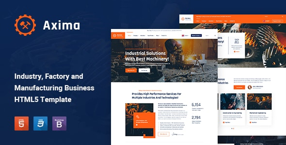 Axima - Factory and Industry HTML5 Template - Business Corporate