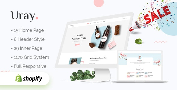 Uray - Fashion, Furniture, Cosmetic & Beauty  Shopify Theme - Health & Beauty Shopify