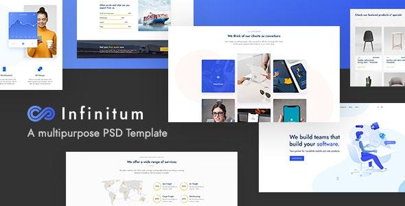 Infinitum - A Multipurpose PSD Template - Creative Photoshop