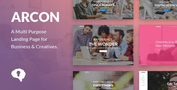 Arcon Studio - Multi Purpose Marketing Landing Page Template