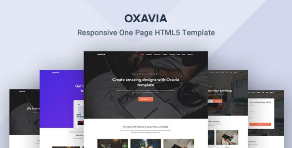 Oxavia - Responsive One Page HTML5 Template - Corporate Site Templates