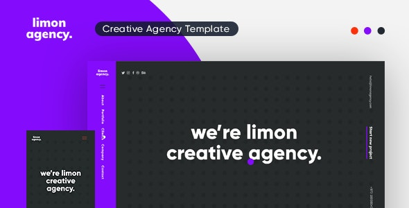 Limon Creative HTML Template - Creative Site Templates