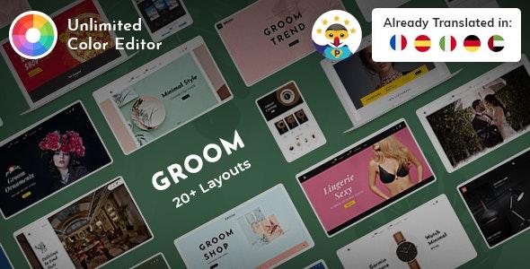 Groom - Prestashop Multi-Purpose Responsive Theme - Shopping PrestaShop