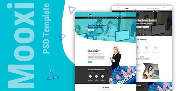 Mooxi - Business And Corporate PSD Template - Corporate PSD Templates